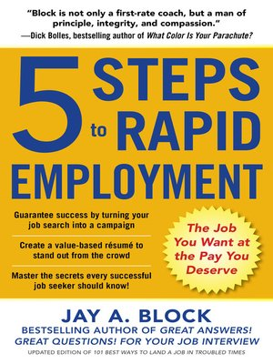 cover image of 5 Steps to Rapid Employment