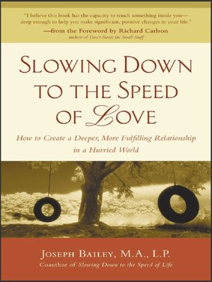 cover image of Slowing Down to the Speed of Love