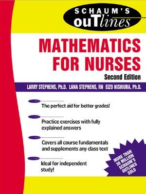 cover image of Mathematics for Nurses