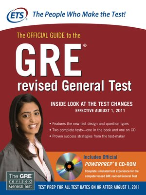 cover image of The Official Guide to the GRE® revised General Test