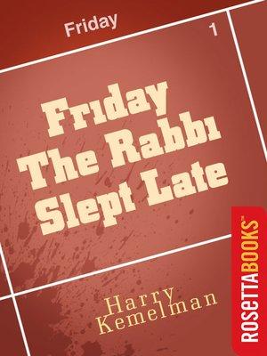 friday the rabbi slept late ebook