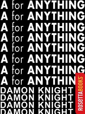 "cover image of ""A"" for Anything"