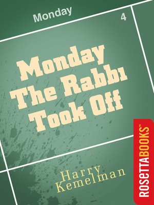 cover image of Monday the Rabbi Took Off