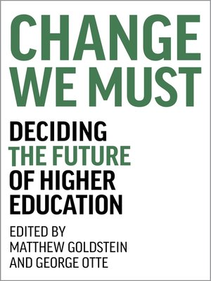 cover image of Change We Must