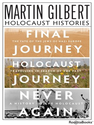 cover image of Martin Gilbert's Holocaust Histories