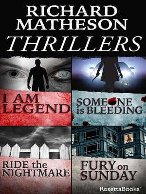 cover image of Richard Matheson Thrillers