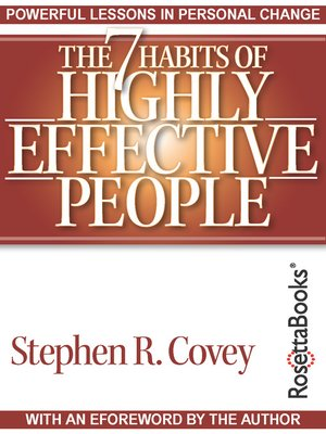 The 7 Habits Of Highly Effective People By Stephen R Covey OverDrive Rakuten EBooks Audiobooks And Videos For Libraries