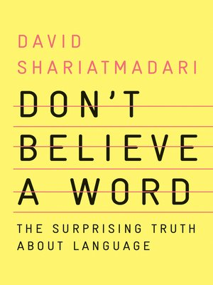 cover image of Don't Believe a Word