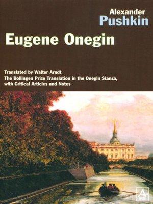 eugene onegin a novel in verse penguin classics