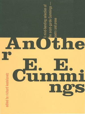 cover image of AnOther E.E. Cummings