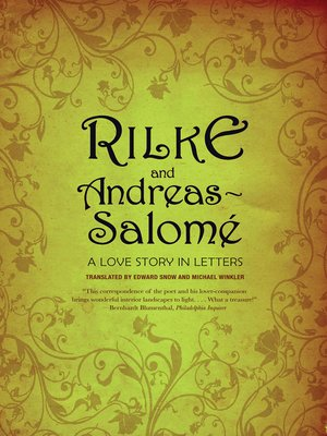 cover image of Rilke and Andreas-Salomé