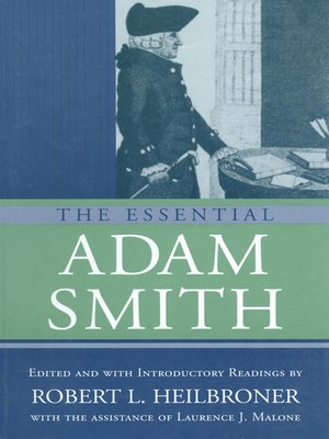 cover image of The Essential Adam Smith