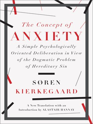 cover image of The Concept of Anxiety
