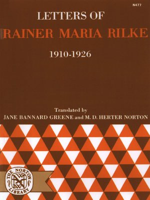 cover image of Letters of Rainer Maria Rilke, 1910-1926