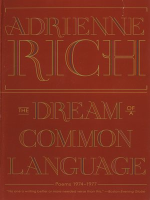 cover image of The Dream of a Common Language