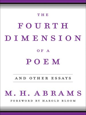 cover image of The Fourth Dimension of a Poem