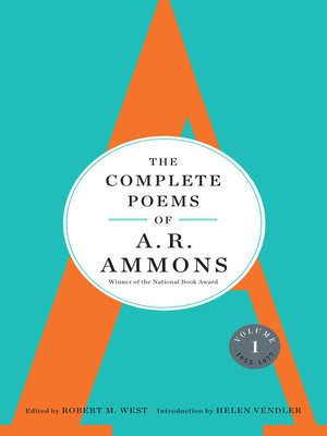 cover image of The Complete Poems of A. R. Ammons, Volume 1