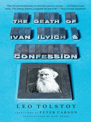 cover image of The Death of Ivan Ilyich and Confession