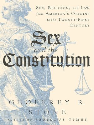cover image of Sex and the Constitution