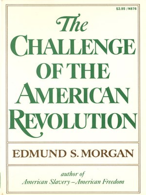 cover image of The Challenge of the American Revolution