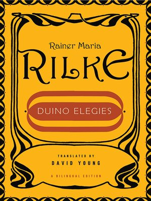 cover image of Duino Elegies (Bilingual Edition)