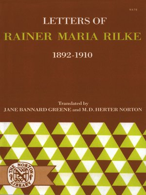 cover image of Letters of Rainer Maria Rilke, 1892-1910