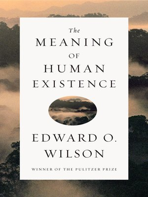 cover image of The Meaning of Human Existence
