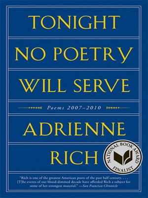 cover image of Tonight No Poetry Will Serve