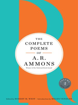 cover image of The Complete Poems of A. R. Ammons, Volume 2