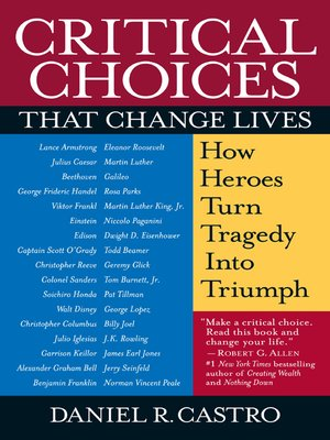 cover image of Critical Choices That Change Lives
