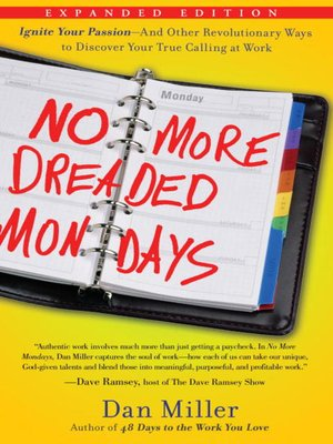 cover image of No More Dreaded Mondays