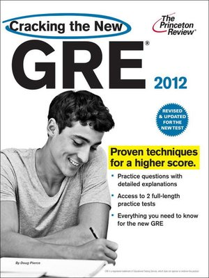cover image of Cracking the New GRE, 2012 Edition