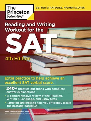 cover image of Reading and Writing Workout for the SAT