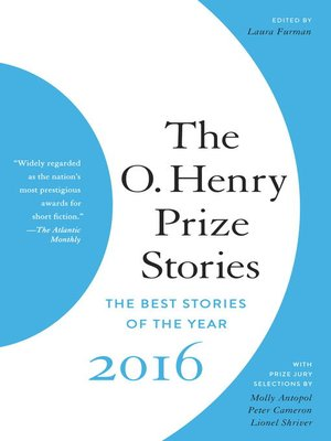 cover image of The O. Henry Prize Stories 2016