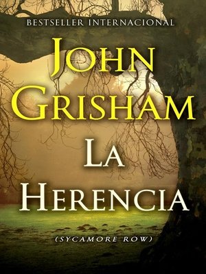 cover image of La herencia (Sycamore Row)