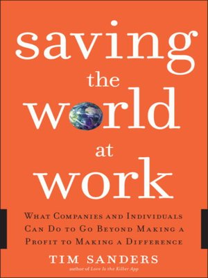 cover image of Saving the World at Work