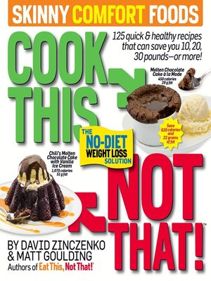 cover image of Cook This, Not That! Skinny Comfort Foods