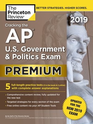 cover image of Cracking the AP U.S. Government & Politics Exam 2019, Premium Edition