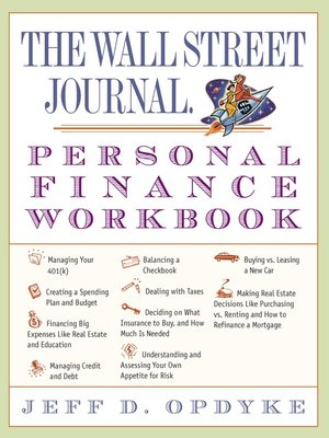 cover image of The Wall Street Journal. Personal Finance Workbook