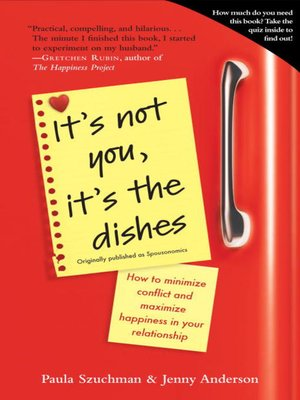 cover image of It's Not You, It's the Dishes (Originally published as Spousonomics)