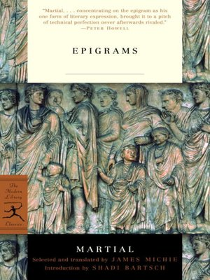 cover image of Epigrams