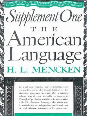 cover image of American Language Supplement 1