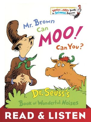 cover image of Mr. Brown Can Moo! Can You?