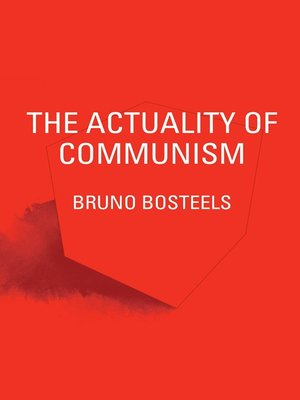 cover image of The Actuality of Communism