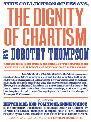 cover image of The Dignity of Chartism