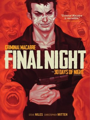 cover image of Criminal Macabre: Final Night: The 30 Days of Night Crossover
