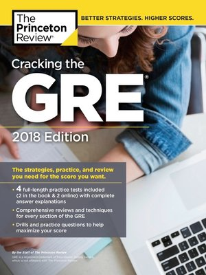 cover image of Cracking the GRE with 4 Practice Tests, 2018 Edition