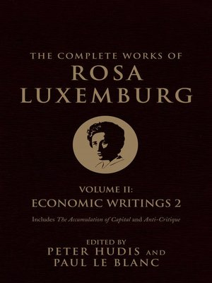 cover image of The Complete Works of Rosa Luxemburg, Volume 2