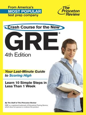 cover image of Crash Course for the New GRE