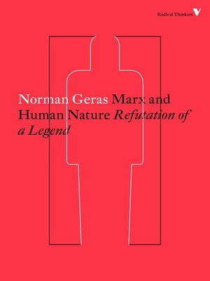 cover image of Marx and Human Nature